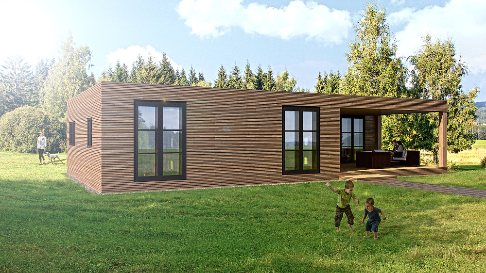 nizkoenergetické modulové domy - stylové domy